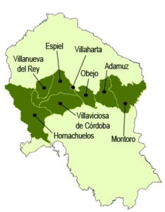 Mapa de Sierra Morena Cordobesa